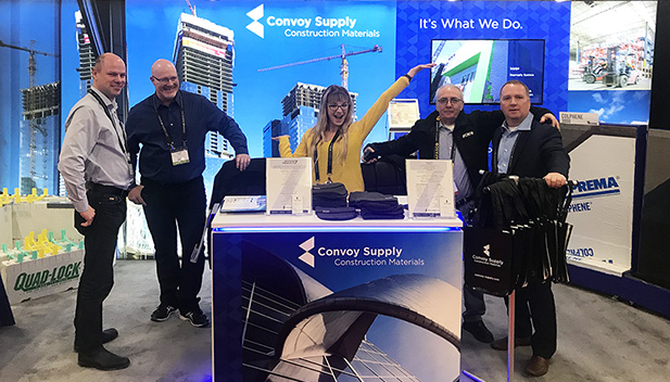 Convoy Supply booth for Canadian Concrete Expo 2020