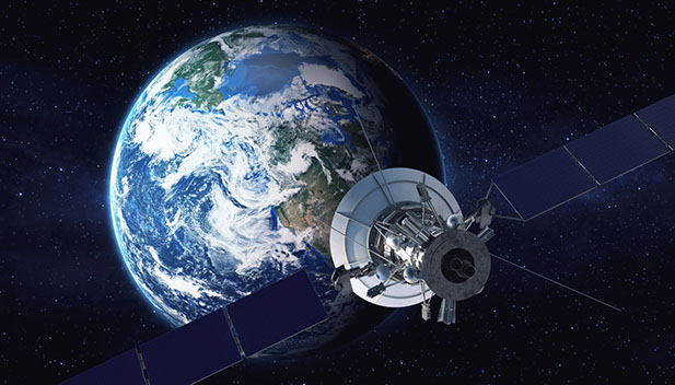 A satellite orbiting the Earth