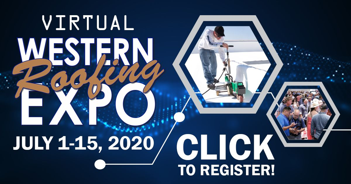 Banner for Western Roofing Expo 2020