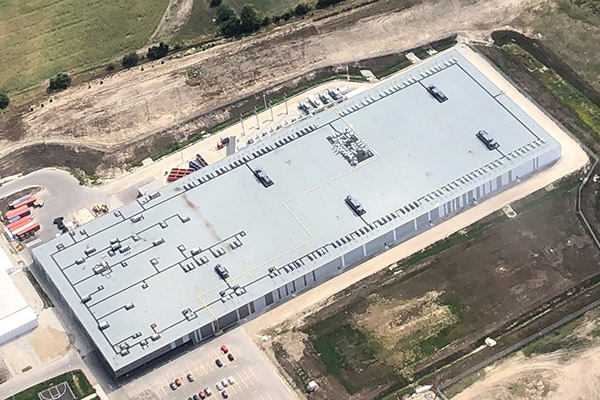 Commercial roofing project using Shiplapped SOPREMA PolyISO