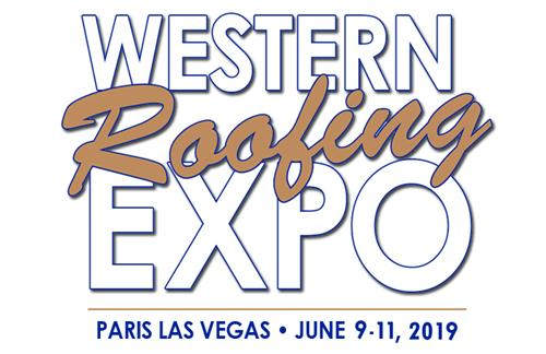 The logo for Western Roofing Expo 2019